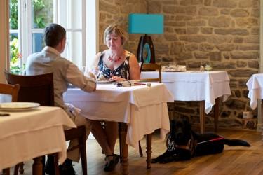 Besuch im Restaurant mit Hund in Frankreich