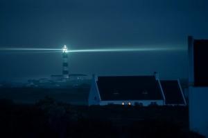 Leuchtturm Phare Creac'h bei Nacht