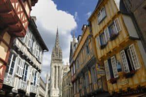 Blick auf die Kathedrale von Quimper