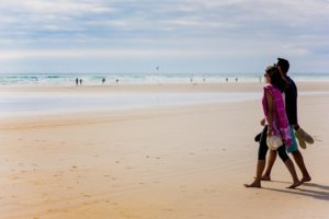 A romantic stroll on the Kermabec beach