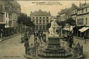 Stadtzentrum von Lorient um 1907