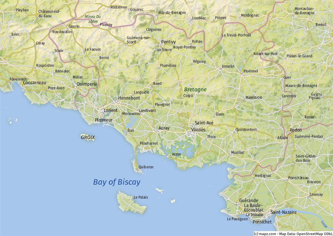 Morbihan Karte