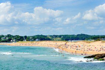 Schönste Strände Morbihan - La plage de la falaise à Guidel