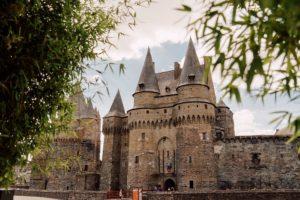 Das Schloss von Vitré gehört zu den schönsten Anlagen der Bretagne